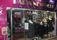 prêt à porter féminin du 44 au 66 PARIS NEW YORK vitrine mars 2015