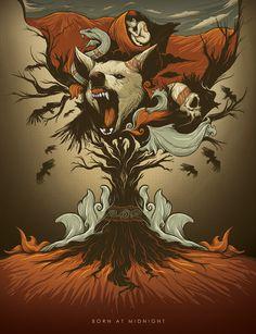 Born in The Midnight - Silver Pesos Poster Promotion by i wayan krishnanda adipurba, via Behance