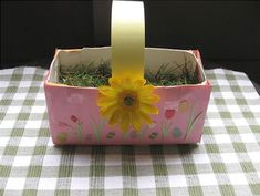 Recycled Juice or Milk Carton Easter Basket craft