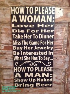 How To Please A Woman and How To Please A Man. by DropALineDesigns
