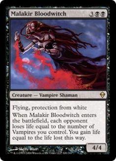 Malakir Bloodwitch mtg Magic the Gathering Zendikar rare black vampire shaman creature card