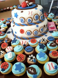 sports+themed+baby+shower+cakes | Sports Themed Baby Shower — Baby Shower