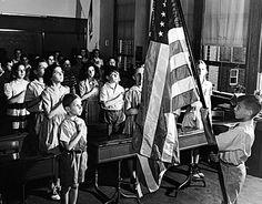 Schoolchildren in the 1950's