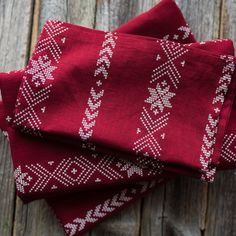Table cloth set, napkins, table runner, Mulled wine aroma finnish fabric, Gloggi tuoksu, Eurokangas fabric, dark red and with table cloth by Stitchingnoob on Etsy
