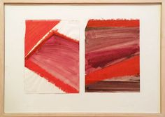 Blinky Palermo, Nevada, 1976; acrylic on two sheets of drawing paper mounted on cardboard, 12 5/8 x 9 3/8 in. (drawing, each)
