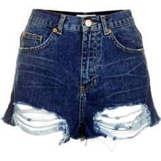 TOPSHOP MOTO Ripped Mom Shorts ($20) ❤ liked on Polyvore featuring shorts, bottoms, short, topshop, mid stone, ripped short shorts, destroyed shorts, topshop shorts and torn shorts