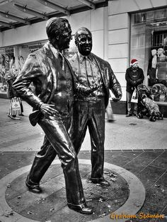 Waiting for the Missus - A study of the John and Cecil Moores statues in Church Street, Liverpool. Liverpool City Centre, Liverpool Town, War Film, Graffiti Murals, Fantasy Films, Steel Sculpture, Modern City, Monuments, Old And New