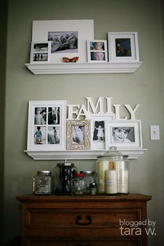 gallery shelf--I like the narrow shelves, but they are sort of hard to find.  I will make more effort next time!
