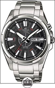 Casio  Edifice - Reloj de cuarzo para hombre, con correa de acero inoxidable, color plateado de  ✿ Relojes para hombre - (Gama media/alta) ✿