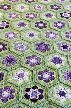 Green And Purple, Green And Brown, Pink Grey, Purple Garden, White Cottage, African, Crocheted Blankets, Color Boards, Pattern
