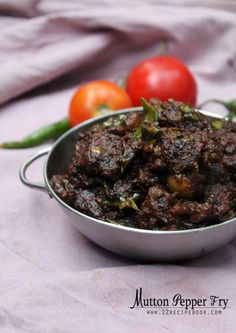 Mutton pepper Fry is a finger licking spicy mutton preparation. Veal Recipes, Beef Recipes For Dinner, Lamb Recipes, Curry Recipes, Chicken Recipes, Cooking Recipes, Prawn Recipes, Lamb Dishes, Veg Dishes