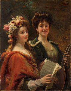 The Athenaeum - Two musicians (Cesare Augusto Detti - )