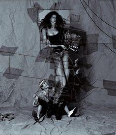 Farida dans son propre rôle, Paris, 1992, Ekta découpé © Jean-Paul Goude