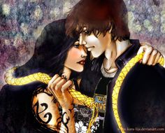 """Inside Your World of Shadows"" kara-lija, Deviant Art.com, Isablle Lightwood and Simon Lewis, characters from The Mortal Instruments series by Cassandra Clare"
