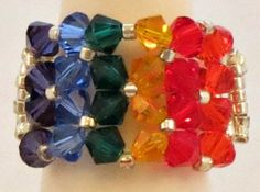 Rainbow wrap ring by CrystalHeartFactory on Etsy, $20.00
