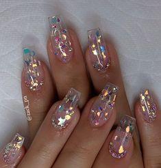 How to choose your fake nails? - My Nails Perfect Nails, Gorgeous Nails, Pretty Nails, Perfect Makeup, Fabulous Nails, Clear Nail Designs, Acrylic Nail Designs, Clear Nails With Design, Nail Crystal Designs