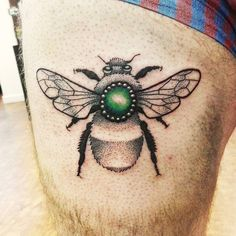 Dotwork bee done yesterday. #beetattoo #beetattoos #dotworktattoo #blackworktattoo #jewels #blackworkerssubmission #dotworker #dotworkers by ladybluetattoo