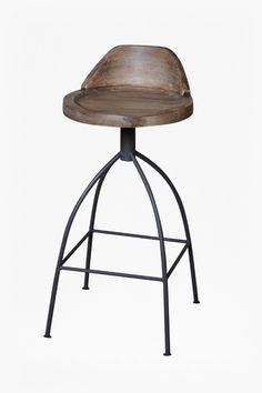 <ul> <li> Mango wood breakfast bar stool in salvage finish</li> <li> Intentional distressed finish</li> </ul>