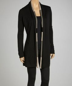 Take a look at this Black Reversible Cashmere Blend Cardigan by Laurie b. on #zulily today!