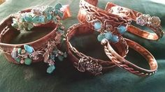 Copper bangles and wire