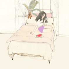 2197번째 이미지 Illustration Sketches, Illustrations And Posters, Character Illustration, Manga Art, Anime Art, Sleeping Drawing, Background Drawing, Korean Art, Creative Pictures
