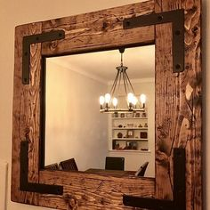 7 Prodigious Useful Ideas: Round Wall Mirror Master Bedrooms whole wall mirror bedrooms.Rustic Wall Mirror Interior Design oversized wall mirror entry ways. Small Wall Mirrors, Rustic Wall Mirrors, Wood Framed Mirror, Living Room Mirrors, Round Wall Mirror, Wall Mirror Ideas, Mirror Art, Reclaimed Wood Mirror, Mirror Collage