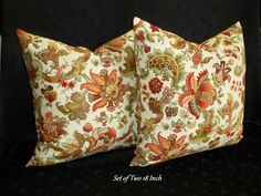 Decorative Accent Throw Pillow Covers  Set of Two by berly731, $27.00