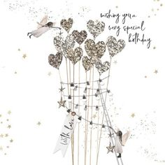 A Love Letters and Soul Mates Card Happy Birthday Wishes For Her, Cool Happy Birthday Images, Birthday Wishes Greetings, Birthday Wishes Quotes, Holiday Wishes, Birthday Greeting Cards, Birthday Pins, Birthday Memes, Birthday Clipart