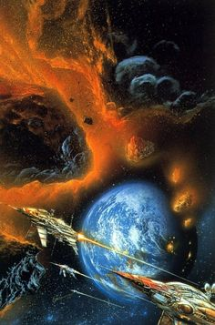 sciencefictiongallery: Bob Eggleton - Into the comet