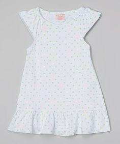 Love this White Star Angel-Sleeve Dress - Toddler & Girls on #zulily! #zulilyfinds