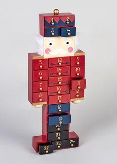 Christmas Wooden Nutcracker Advent Calendar