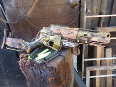 STEAMPUNK Zombie Strike SLEDGEFIRE Nerf Gun Fire 3 darts auf einmal