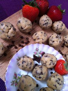 eggless cookie dough truffles