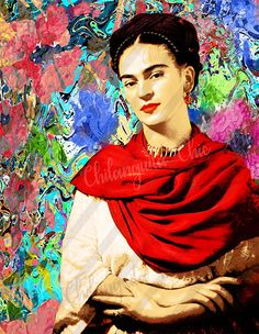 Frida Kahlo Artwork, Kahlo Paintings, Frida Art, Frida E Diego, Frida Kahlo Diego Rivera, Acrylic Painting On Paper, Painting For Kids, Art Pictures, Art Images