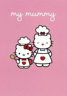Hello Kitty greeting card from Pink & Greene cards. Hello Kitty Theme Party, Hello Kitty Themes, Sanrio Hello Kitty, Cartoon Character Tattoos, Hello Kitty Imagenes, Hello Kitty Pictures, Vintage Birthday Cards, Kawaii Doodles, Hello Kitty Collection