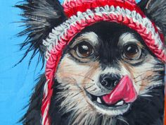 Dog Portrait dog pop art pet painting done with by LetitiasArt