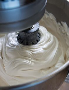 Fluffy Brown Sugar Icing ~ It was amazing, and the taste is stellar. It's like a fluffy caramel marshmallow frosting.. this icing would be amazing when paired with just about anything… even a spoon :)