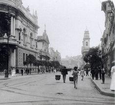 Conde de Agrolongo. Rua 1º de Março, Rio de Janeiro RJ , ca. 1908. Estereoscopia. Coleção Fichel David Chargel.