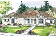 Mediterranean House Plan - Roselle 30-427 - by Associated Designs