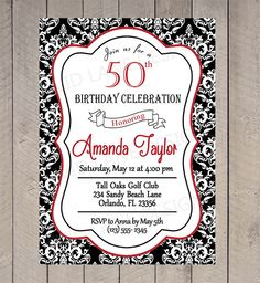 red black and white birthday invitations koni polycode co