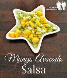 Who said salsa has to be wildly spicy and chock full of tomatoes? This sweet and tangy mango avocado salsa is a great way to sneak in healthy fats and add a different taste to your dishes. Bonus: It's really easy to make too! Find this recipe and more at HeandSheEatClean.com #salsa #mango #sweetandtangy #cleaneating #eatclean #recipe