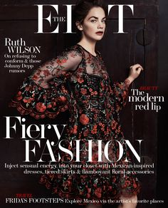 RUTH WILSON IN THE EDIT MAGAZINE 22ND JANUARY 2015
