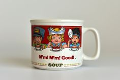 Vintage,Campbell's  Soup ,Soup Mug,Soup Bowl,Soup Cup,  M'm M'm  Good by HoneyQueenBee on Etsy