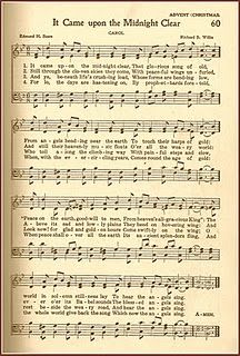 Christmas Carol Freebie from old hymn book.  It Came Upon a Midnight Clear
