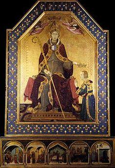 Simone Martini, San Ludovico di Tolosa che incorona il fratello Roberto d'Angiò (Museo di Capodimonte)