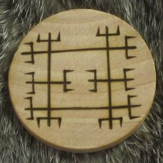 This is one of a number of Icelandic magical staves, said to bring benefits to those who carry them. These staves come from a variety of Icelandic grimoires from the 17th century and later.  This talisman is called Brýnslustafir and is for use on whetstones to aid in the sharpening of blades. When carried on your person, it can help sharpen your mind and focus your thoughts. Good for study and when you really need to focus on a project.