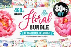 Floral Bundle by OctopusArtis. This huge Floral Bundle includes of hand-illustrated watercolor resources that will save you tons of time. This is an exclusive chance to own them all with a saving. This collection is only available f Business Illustration, Pencil Illustration, Watercolor Illustration, Graphic Illustrations, Watercolor Design, Watercolor And Ink, Watercolor Flowers, Watercolor Wedding, Creative Sketches