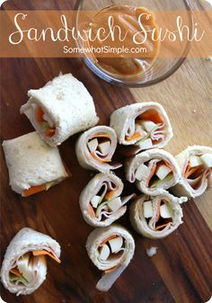 Fresh, healthy snack for kids- Sandwich Sushi