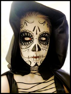 This was a very makeup extensive cosplay, with 2-3 hours of body paint application to free hand all the designs onto ...