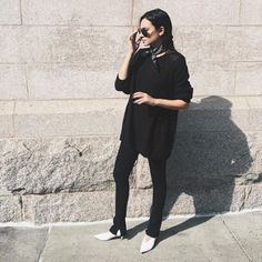 @weworewhat goes all  black in her J BRAND jeans. #InMyJBRAND